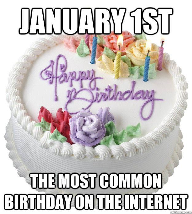 January 1st The Most Common Birthday on the internet - January 1st The Most Common Birthday on the internet  Misc