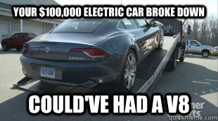 Your 100 000 Electric Car Broke Down Could Ve Had A V8