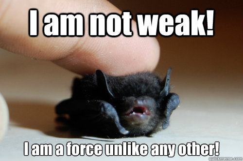 I am not weak! I am a force unlike any other!