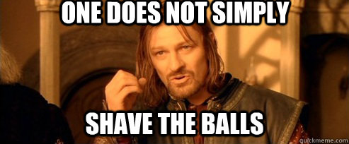 One does not simply shave the balls