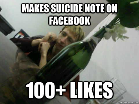 Makes Suicide Note on Facebook 100+ Likes