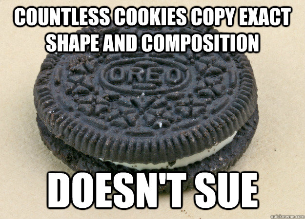 countless cookies copy exact shape and composition doesn't sue