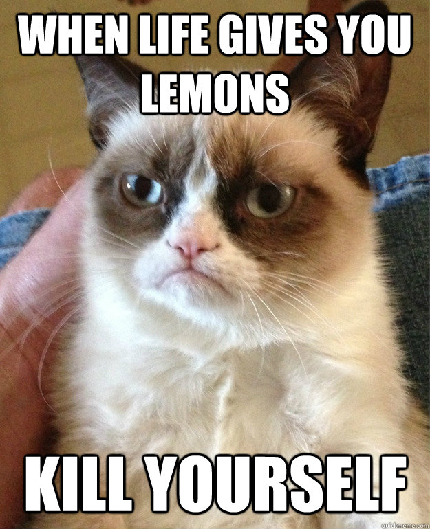 When life gives you lemons kill yourself - When life gives you lemons kill yourself  Misc