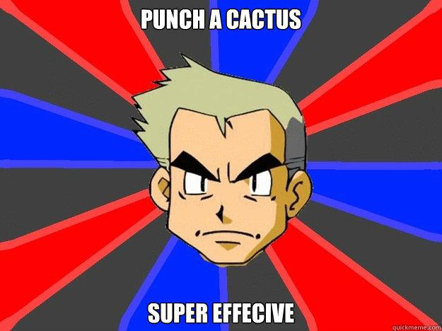 punch a cactus super effecive