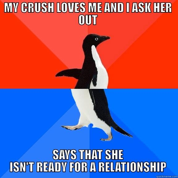 She says she isn't ready for a relationship?!?!?