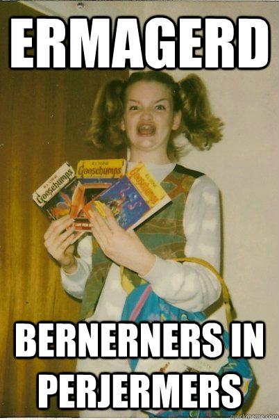 ERMAGERD BERNERNERS IN PERJERMERS - ERMAGERD BERNERNERS IN PERJERMERS  BERKS