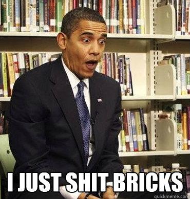I just shit bricks