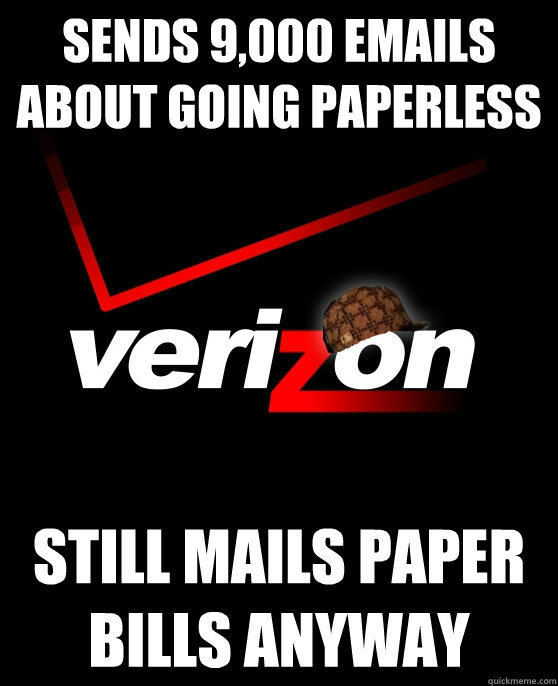 Sends 9,000 emails about going paperless still mails paper bills anyway