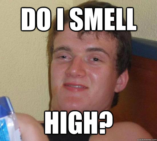do i smell high? - do i smell high?  Really High Guy