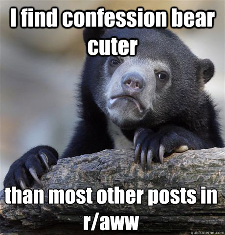 I find confession bear cuter than most other posts in r/aww - I find confession bear cuter than most other posts in r/aww  Confession Bear