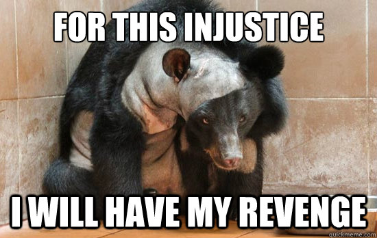 fOR THIS INJUSTICE I WILL HAVE MY REVENGE - fOR THIS INJUSTICE I WILL HAVE MY REVENGE  Revenge Bear