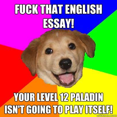 English essay advice?