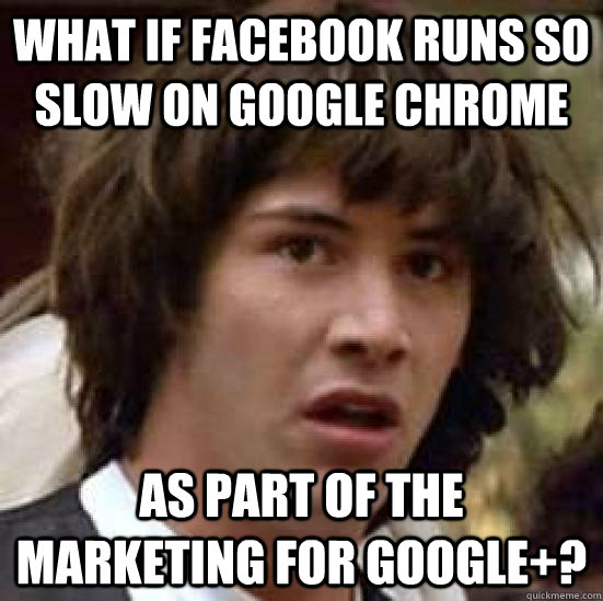 What if Facebook runs so slow on Google Chrome As part of the