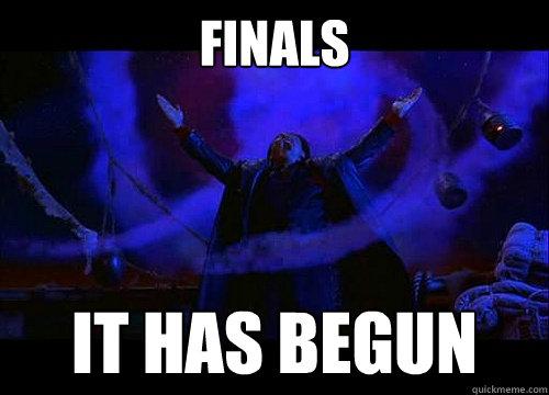 Finals It has begun  Shang Tsung