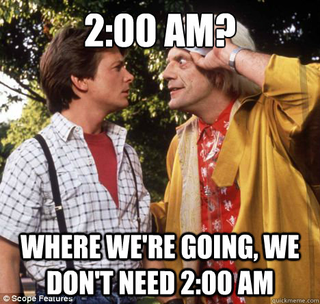 2:00 AM? Where we're going, we don't need 2:00 AM - 2:00 AM? Where we're going, we don't need 2:00 AM  Misc
