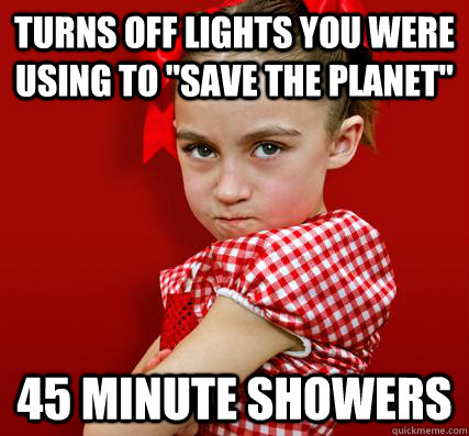Turns off lights you were using to