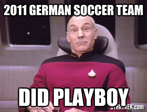2011 German soccer team Did Playboy