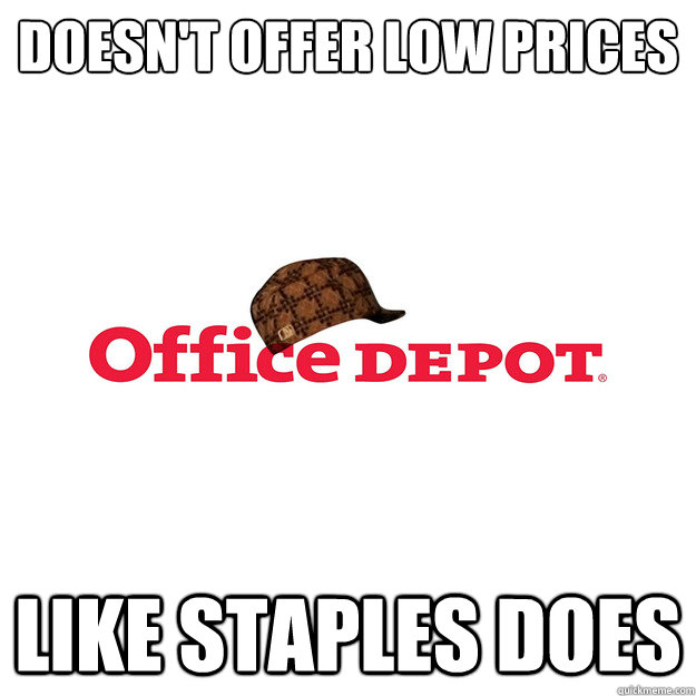doesn't offer low prices like staples does - doesn't offer low prices like staples does  Misc