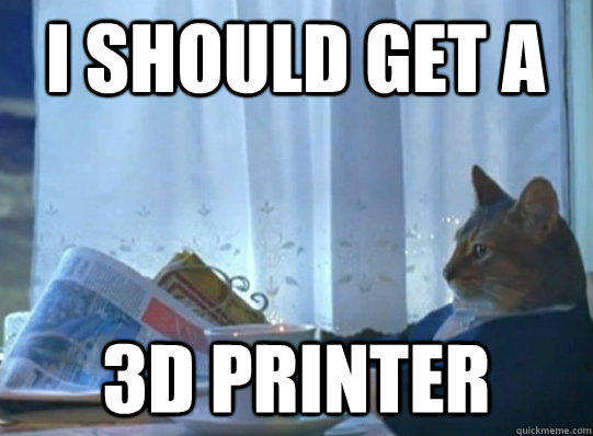 I should get a 3D printer