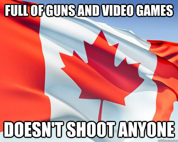 Full of guns and video games Doesn't shoot anyone
