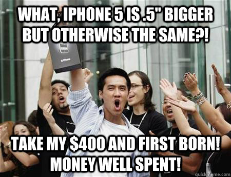 What, iphone 5 is .5
