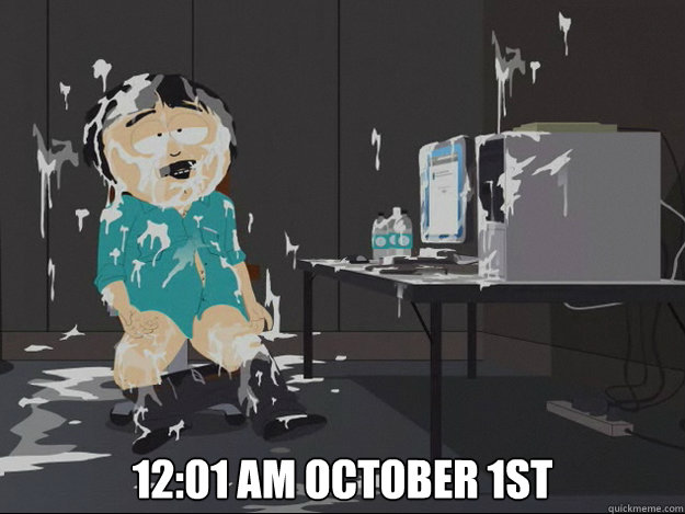 12:01 am OCTOBER 1st