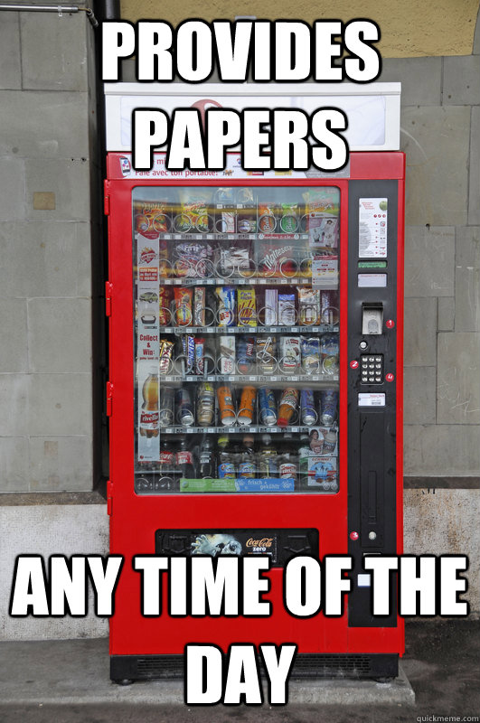 Provides Papers Any time of the day - Provides Papers Any time of the day  Misc