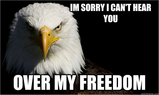 Im sorry I can't hear you Over my freedom