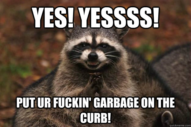 Bodybuilder Dating Meme Trash Panda Raccoon