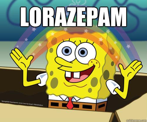 Lorazepam - Spongebob rainbow - quickmeme