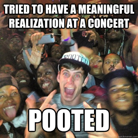Tried to have a meaningful realization at a concert Pooted - Tried to have a meaningful realization at a concert Pooted  Misc