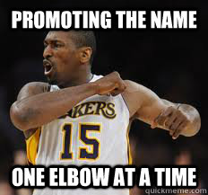 cc06791d482b promoting the name one elbow at a time - Metta World Peace - quickmeme