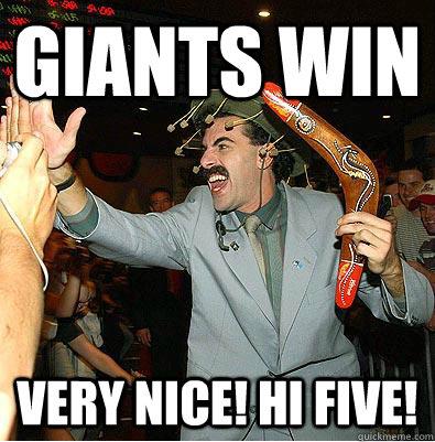 Giants WIN Very Nice! Hi Five! - Giants WIN Very Nice! Hi Five!  Misc