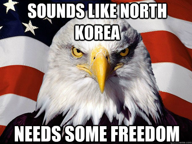 sounds like north korea needs some freedom - sounds like north korea needs some freedom  Patriotic Eagle