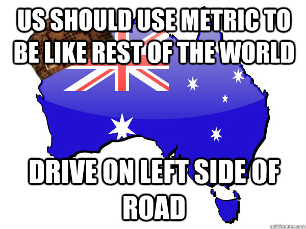 US should use metric to be like rest of the world drive on left side of road