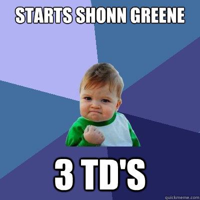Starts Shonn Greene 3 TD's - Starts Shonn Greene 3 TD's  Success Kid