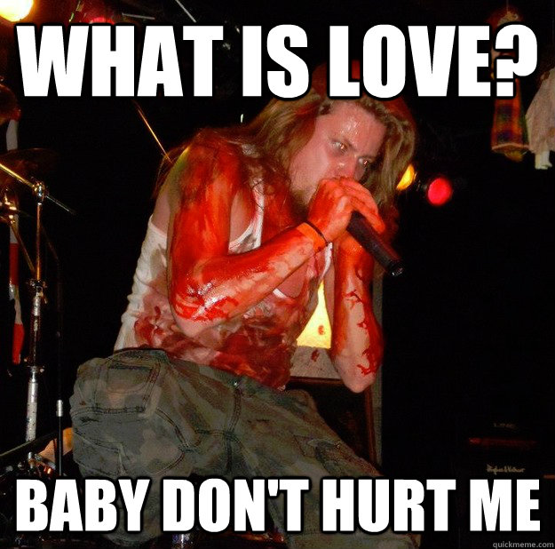 f8922fca62b61ac3f5c0fd52c2caf6d93611f542b4d76bffb8f0f1bd3f45b608 what is love? baby don't hurt me unseen quickmeme