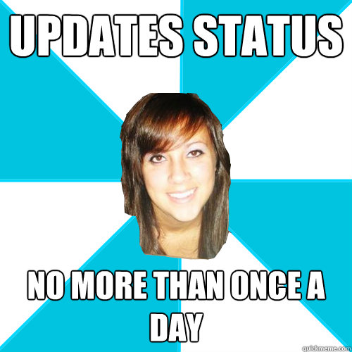updates status no more than once a day