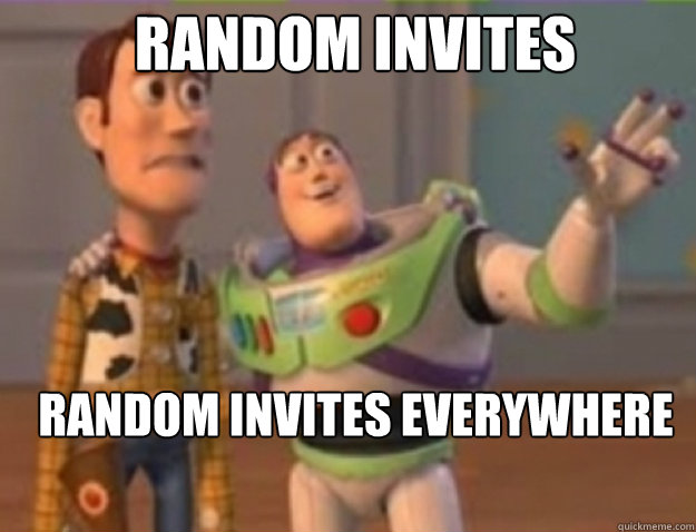 Random Invites  Random Invites Everywhere