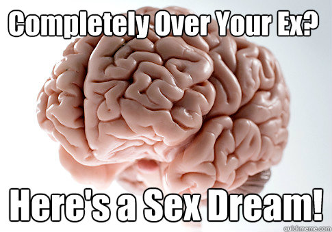 Completely Over Your Ex? Here's a Sex Dream!  - Completely Over Your Ex? Here's a Sex Dream!   Scumbag Brain