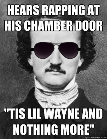 hears rapping at his chamber door