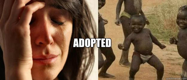 adopted -  adopted  First World Problems  Third World Success