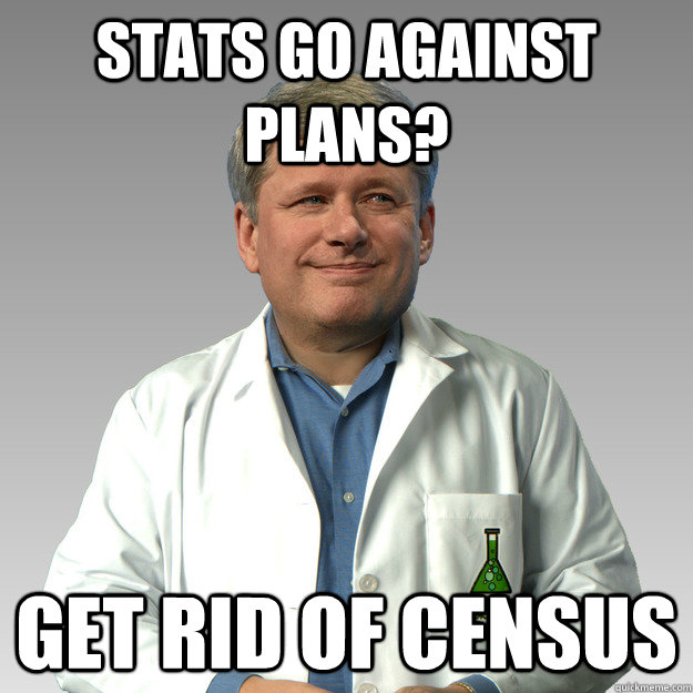 Stats go against plans? Get rid of census