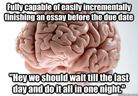 Finishing An Essay