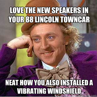 Love The New Speakers In Your 88 Lincoln Towncar Neat How You Also
