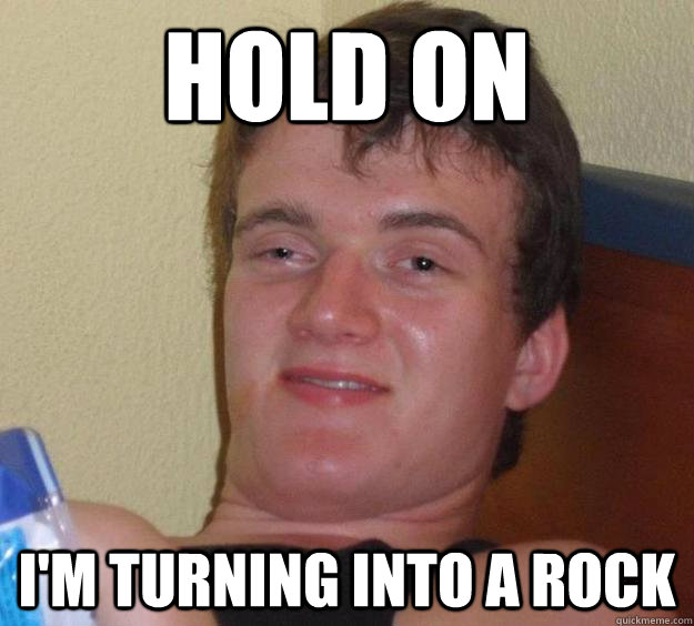 Hold on I'm turning into a rock - Hold on I'm turning into a rock  10 Guy
