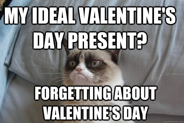 My ideal Valentine's day present? Forgetting about Valentine's day - My ideal Valentine's day present? Forgetting about Valentine's day  GrumpyCatOL