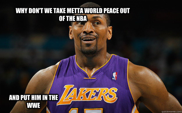 Why Don't we take Metta World Peace out of the Nba And put him in the WWE - Why Don't we take Metta World Peace out of the Nba And put him in the WWE  Metta World Peace meme