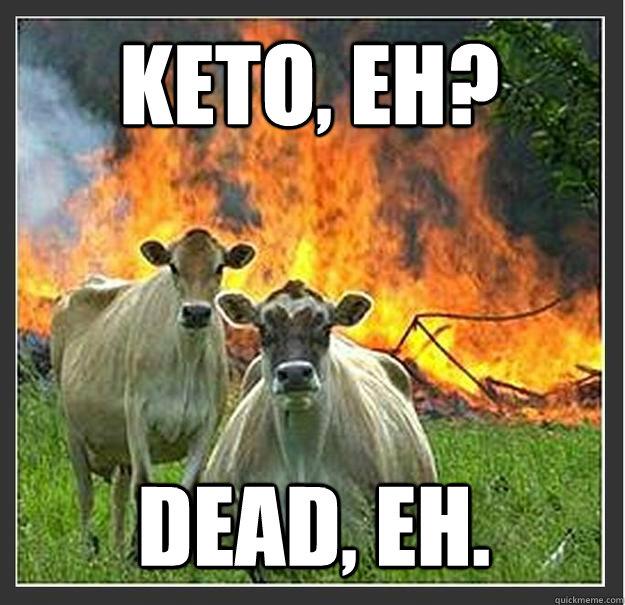 Keto, eh? Dead, eh. - Keto, eh? Dead, eh.  Evil cows