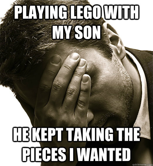 Playing Lego with my son he kept taking the pieces i wanted - Playing Lego with my son he kept taking the pieces i wanted  Misc